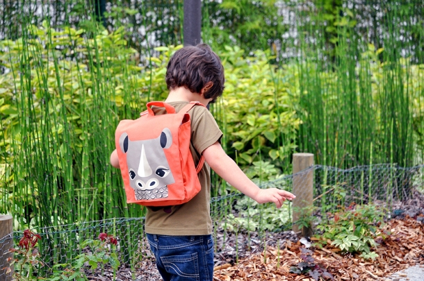 Rhino backpack from COQENPATE's Save Our Species collection. Photo via coqenpate.com.