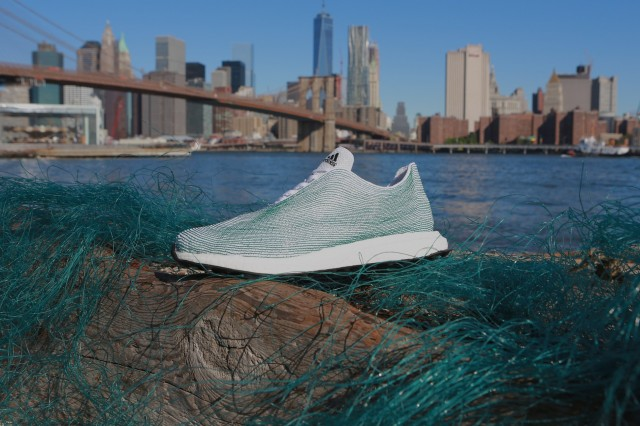 adidas shoes made from reclaimed ocean waste. Photo via adidas.