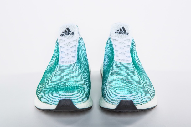 adidas unveiled its shoe made from recycled plastic waste from the ocean. Photo via adidas.