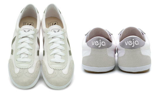 Veja shoes are produced in Brazil and France in accordance with high environmental and social standards. Photo via Ecouterre.
