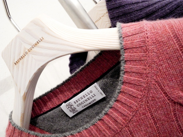 Brunello Cucinelli cashmere sweater. Photo by just_jeanette via Flickr.