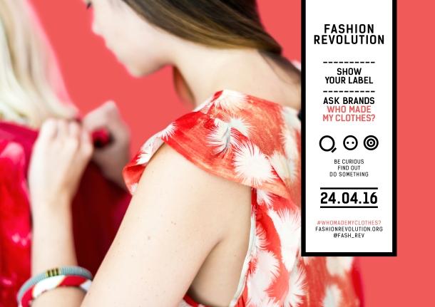 Fashion Revolution campaign poster 2016. Photo: Stephanie Sian Smith/Fashion Revolution