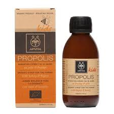 Apivita's propolis and thyme syrup is a natural medicine against sore throats. Photo via Apivita website.